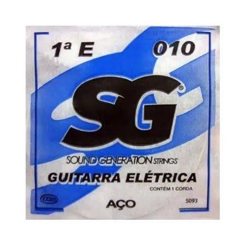 12 X Cordas Avulsas MI 1º para Guitarra 010 SG