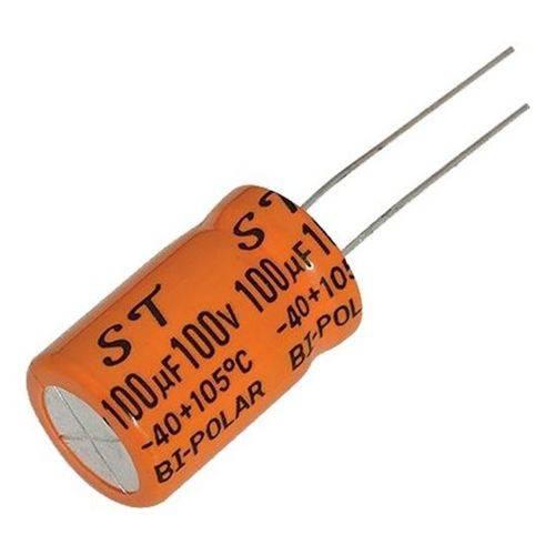 100 Capacitores Bipolar 100uF 100v 105ºC (driver)