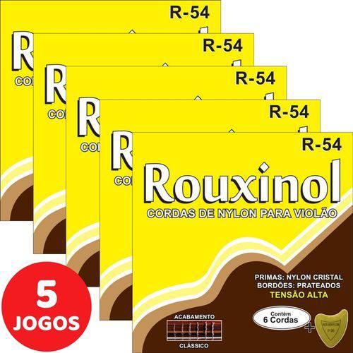 5 Encordoamento Rouxinol P/ Violão Nylon Clássico Tensão Pesada R54