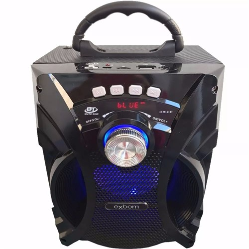 Caixa Bluetooh 6W Super Bass RMS USB/FM CS-M161BT - Exbom