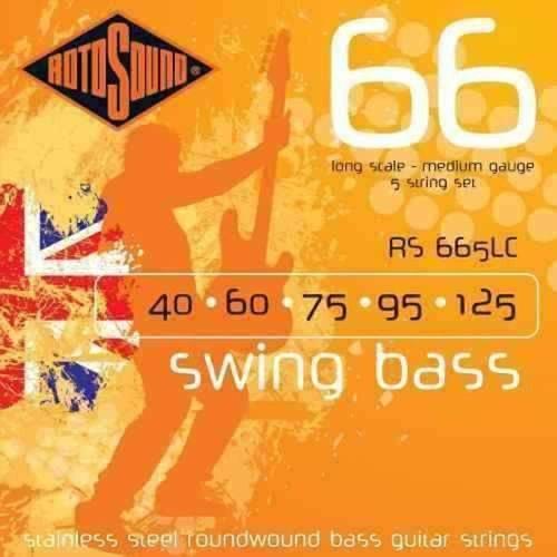 Acessorios Encordoamento Baixo Rotosound Rs665lc (Swing Boss) 5 Cordas 040-125