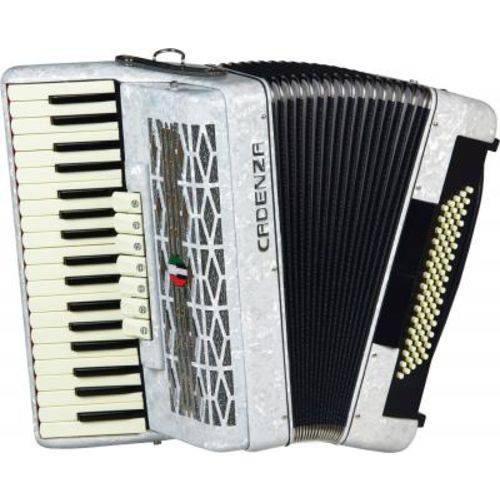Acordeon 80 Baixos Cadenza CD80/37 Wh - Branco Pérola, Acompanha Bag, Case e Alça