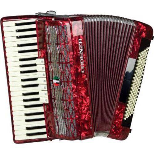 Acordeon Cadenza 120 Baixos, Cd120/41 Rd - Vermelho Perolado