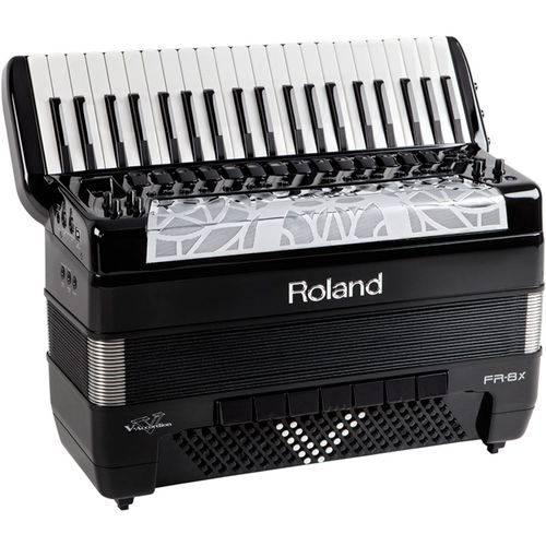 Acordeon Roland Fr8x Elétrico V-Accordion Preto com Bag