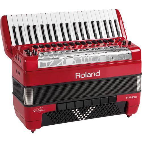 Acordeon Roland Fr8x Elétrico V-accordion Vermelho com Bag