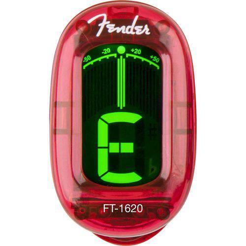Afinador Cromático California Ft-1620 Vermelho Fender