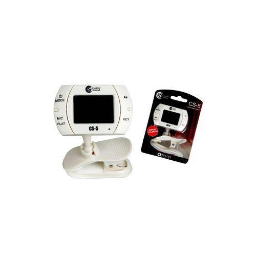 Afinador Cromático Digital Custom Sound CS5 Branco