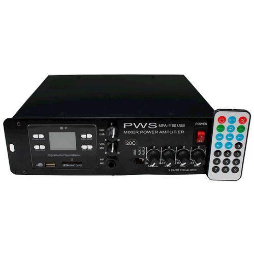 Amplicador Potência 100W PWS MPA 1100 USB