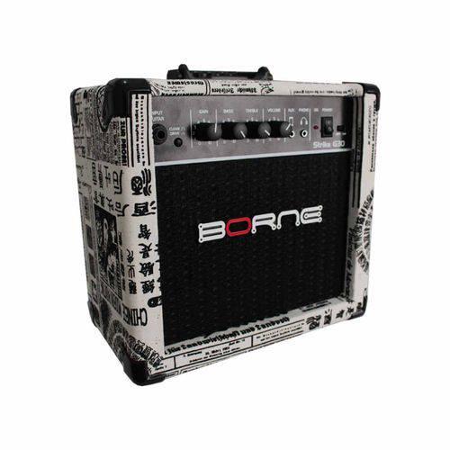 Amplificador Borne P/ Guitarra STRIKE G30 15 Watts RMS na Cor Jornal