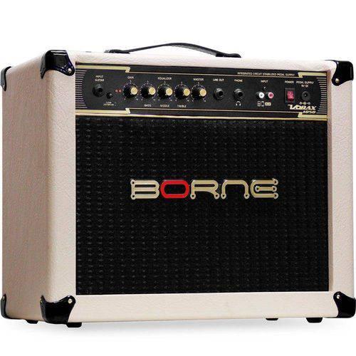 Amplificador Borne Vorax 1050 50w Cor Creme + Fonte 5 Pedais Guitarra