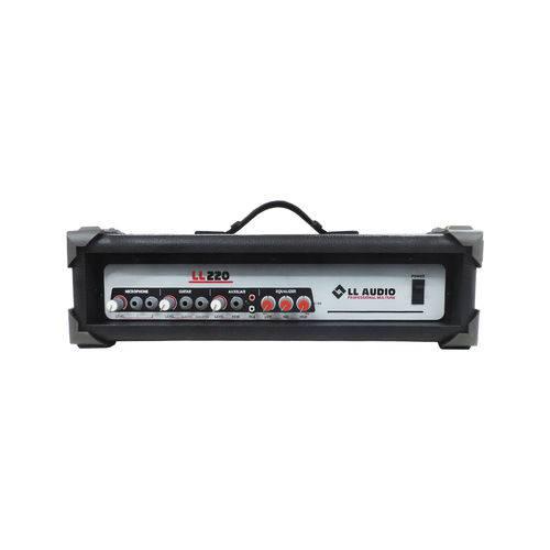 Amplificador Cabeçote LL220 3 Canais 50W RMS 4 Ohms LL Audio