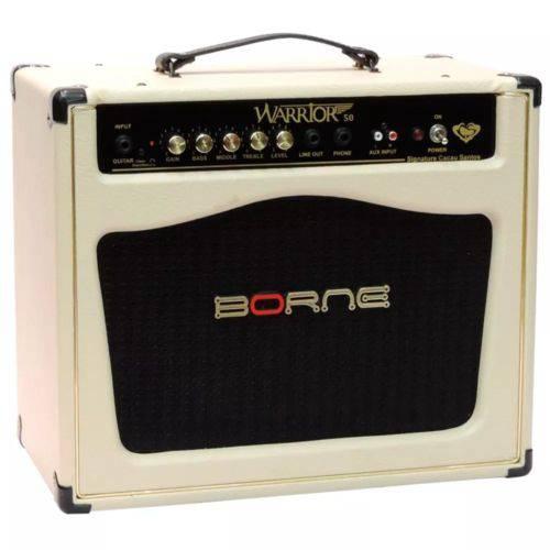 Amplificador Cubo Borne Warrior 50 Creme Cacau Santos