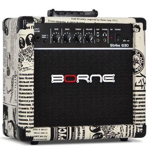 Amplificador Cubo Guitarra Borne G30 Jornal C/ Distorção