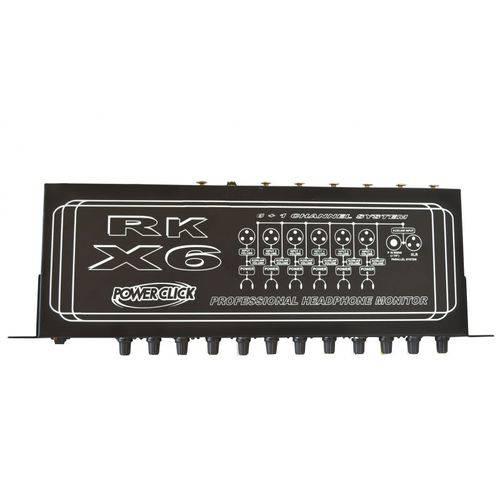 Amplificador de Fone de Ouvido Power Click Rk X6 para 6 Fones
