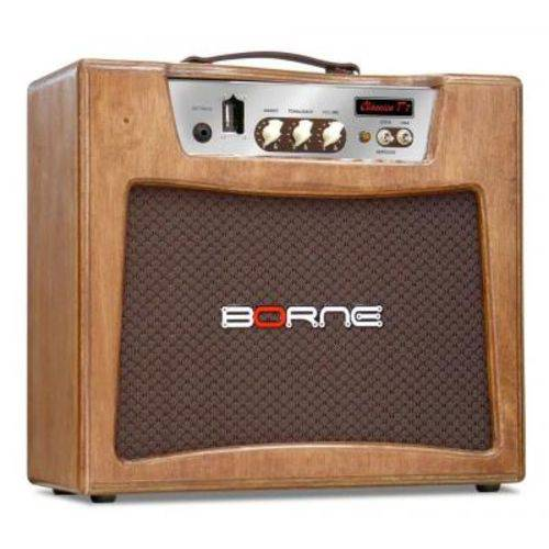 Amplificador de Guitarra Borne Valvulado, Clássico T7 - 7W Rms, Cor Palha, Bivolt