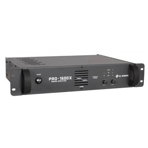 Amplificador de Potência Profissional PRO 1600 X 400 Watts RMS LL Áudio