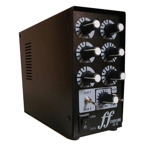 Amplificador e Setorizador de Caixa de Som Ambiente com 3 Setores