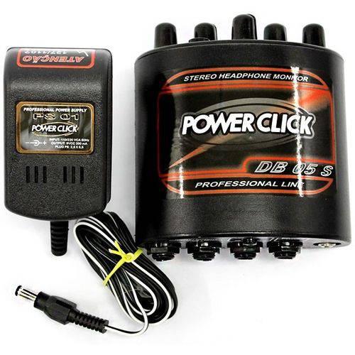 Amplificador Fone de Ouvido Power Click Db 05s Stereo + Fonte