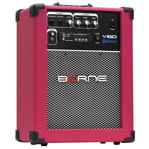 Amplificador Multiuso Bluetooth 40w Bivolt V160 Rosa Borne