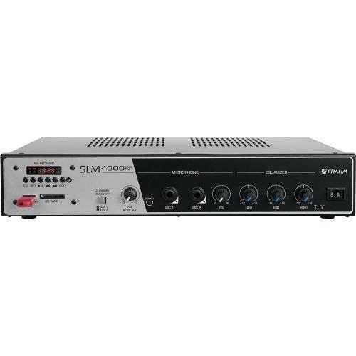 Amplificador para Ate 50 Caixas Slim 4000 Usb Fm Frahm