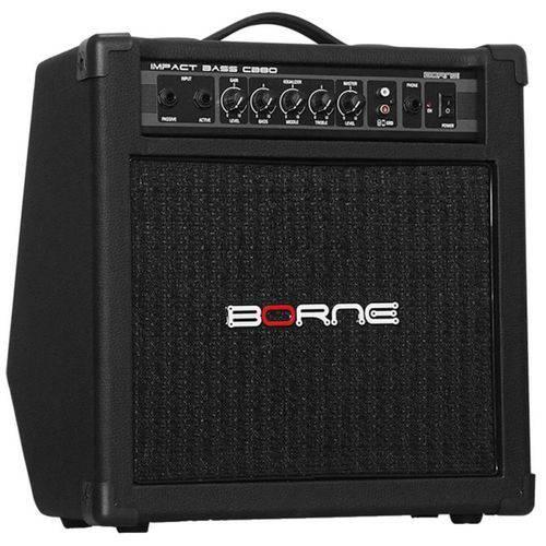 Amplificador para Baixo Borne CB80 Impact Bass - 30W Rms, Preto, Bivolt