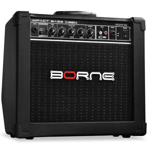 Amplificador para Contra Baixo Combo Borne Impact Bass Cb60 Preto