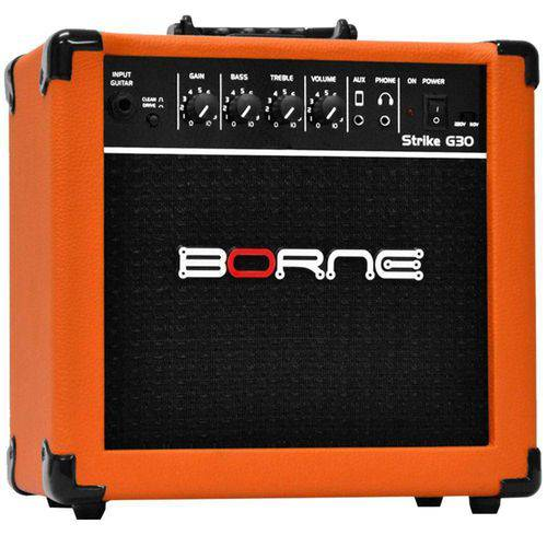 Amplificador para Guitarra 15w 6 Pol Strike Laranja Bivolt G30 Borne