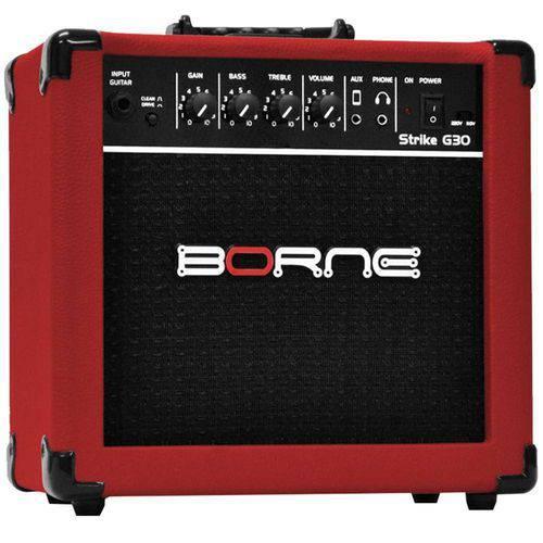 Amplificador para Guitarra 15w 6 Pol Strike Vermelha Bivolt G30 Borne