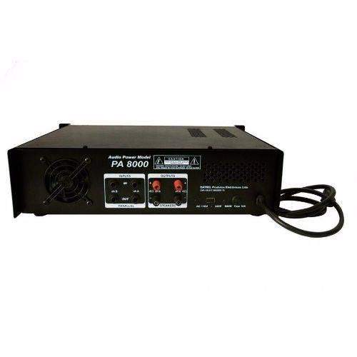 Amplificador Potência Profissional 800w Rms PA8000 - Datrel