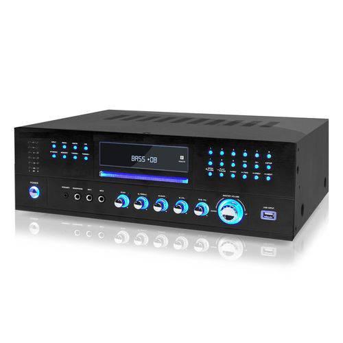 Amplificador Receiver Audio Video DVD USB Mp3 Karaoke 3000w Pro3000 Raddycall
