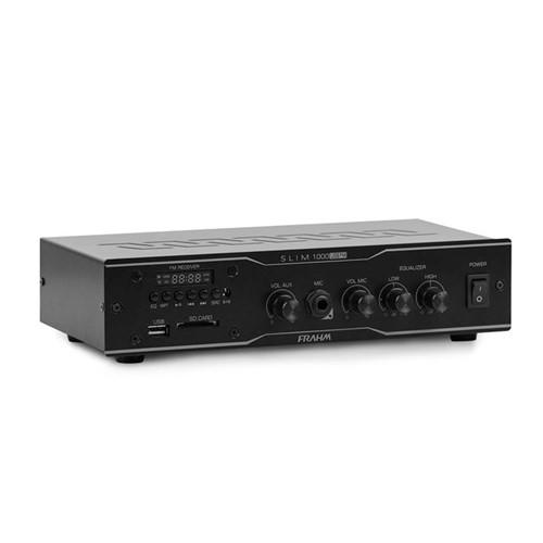Amplificador Receiver para Som Ambiente Slim 1000 USB FM 31783 Frahm