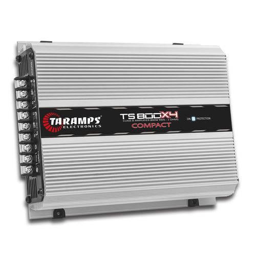 Amplificador Taramps TS800X4 COMPACT 1 Ohms (4X200W RMS)