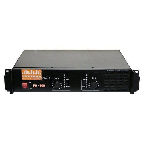 Amplificador Voxtron By Techaudio VOX PA 500 2 Canais 500W 4 Ohms
