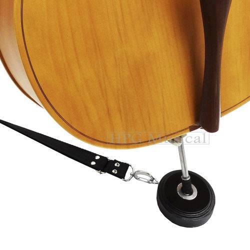 Apoio Violoncelo Paganini Madeira com Alça Tabaco