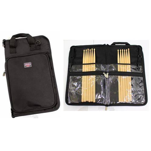 Bag de Baquetas Ahead Aa6026 Jumbo Stick Case Padrão Top de Linha com Ganchos para Fixação