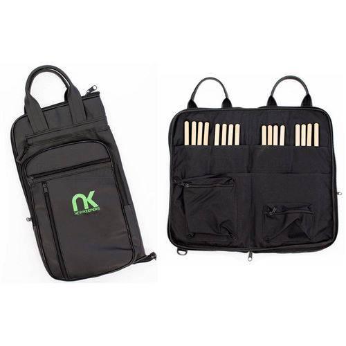 Bag de Baquetas Nk Newkeepers Eco Courino Tamanho Extra Grande Padrão Top de Linha