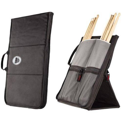 Bag de Baquetas Sabian Sitck Flip Ssf11 Black Grey com Fixação no Chão