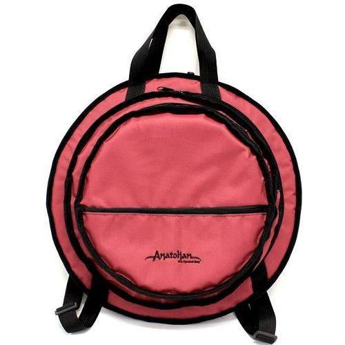 Bag de Pratos Anatolian Pro Cymbal Bag com 3 Divisões, Bolso Frontal, Pratos Até 22¨ By Solid Sound