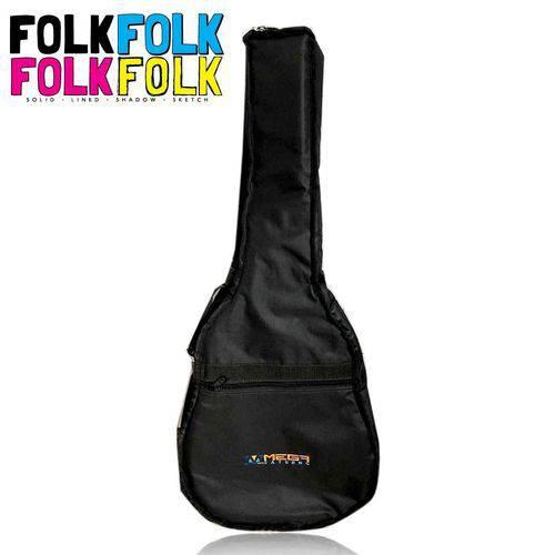 Bag Luxo Acolchoada para Violão Folk Mochila