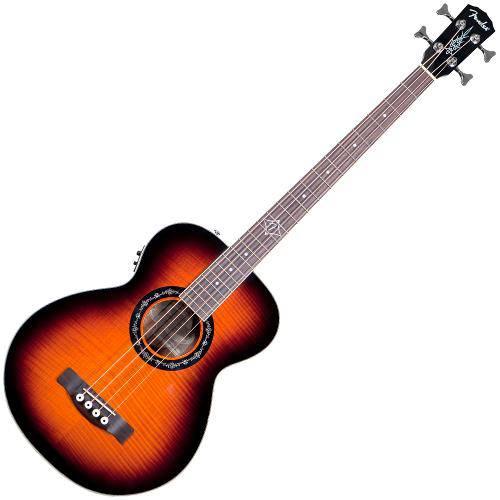 Baixolão Eletroacústico de 4 Cordas Fender T-Bucket Bass e