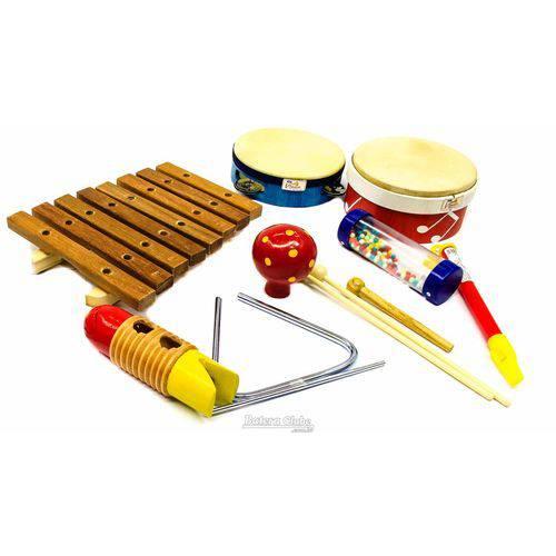 Bandinha Rítmica Jog Vibratom P3661 Kit 8 Peças Instrumentos de Percussão (musicalização Infantil)