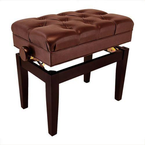 Banqueta para Piano Schieffer - Marrom - Super Luxo - Altura Regulável - SCHPB-002
