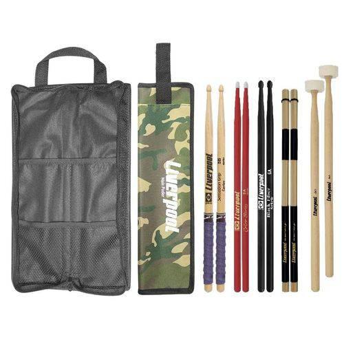 Baqueta 5B 5A Mallet de Feltro, Acoustic Roods e Bag COM02