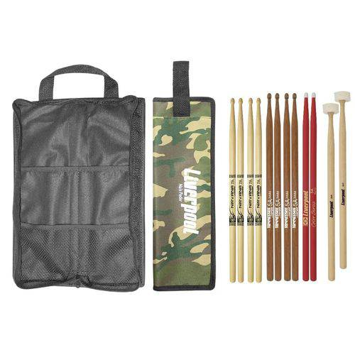 Baqueta 7A 5A Mallet Feltro e Bag COM02 LIVERPOOL