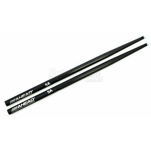 Baqueta Ahead Drumsticks 5a Classic Black Polyurethane (5a Nylon) em Poliuretano e Base de Alumínio