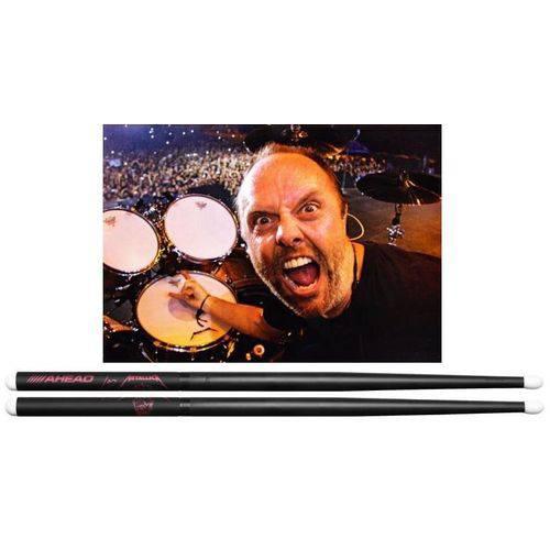 Baqueta Ahead Drumsticks Signature Lars Ulrich ¨scary Guy¨ Lu-sgl (padrão 5b Light) Poliuretano