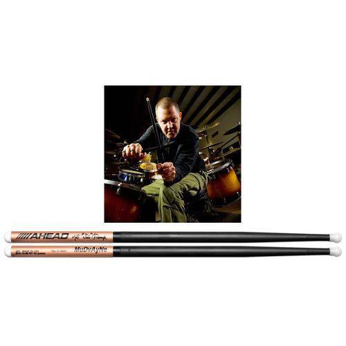 Baqueta Ahead Drumsticks Signature Matt ¨spug¨ Mcdonoughs S7a (padrão 7a) Poliuretano e Alumínio