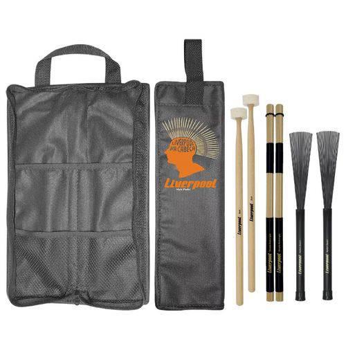 Baqueta Feltro, Vassourinha, Acoustic Roods e Bag LIVERPOOL