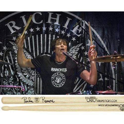 Baqueta Los Cabos Signature Richie Ramone Lcdrr (padrão 5a/5b Comprida) Banda Ramones