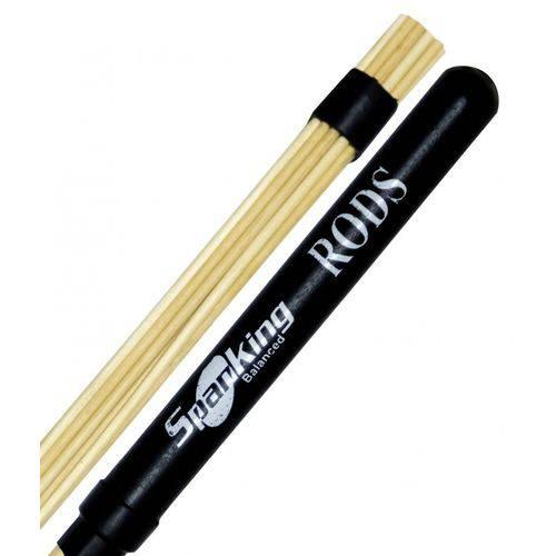 Baqueta Rod Spanking Linha Rods Colorida Preta (4110pr)